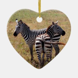 Zebras in Nairobi Kenya Christmas Ornament