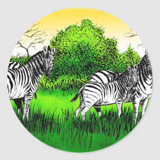 Zebras on the lookout sticker
