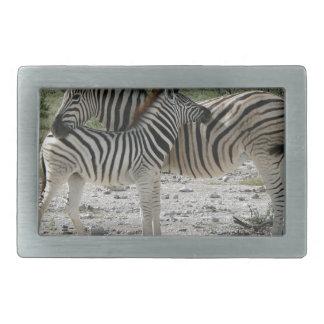 Zebras Rectangular Belt Buckle