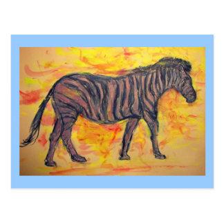 Zebras Rock Postcard