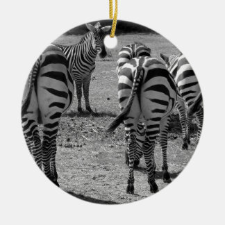Zebras Round Ceramic Decoration