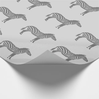 Zebras - Shades of Grey / Gray Wrapping Paper