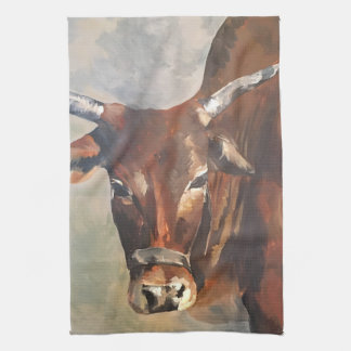 Zebu Bull Western Kitchen Towel