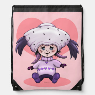 ZEDA ALIEN CARTOON Drawstring Backpack