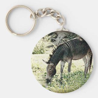 """""""Zedonk"""" Basic Round Button Key Ring"""