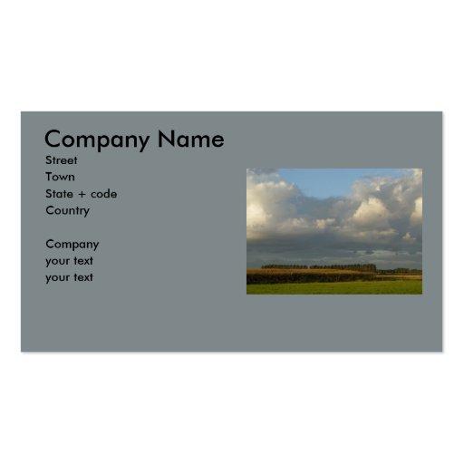 Zeeland - Clouds above golden grain Business Card Template