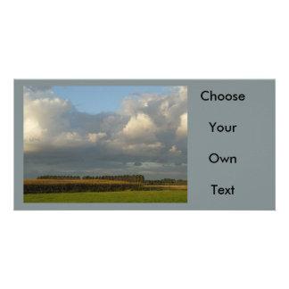 Zeeland - Clouds above golden grain Photo Cards