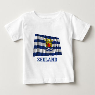 Zeeland Waving Flag with Name Baby T-Shirt