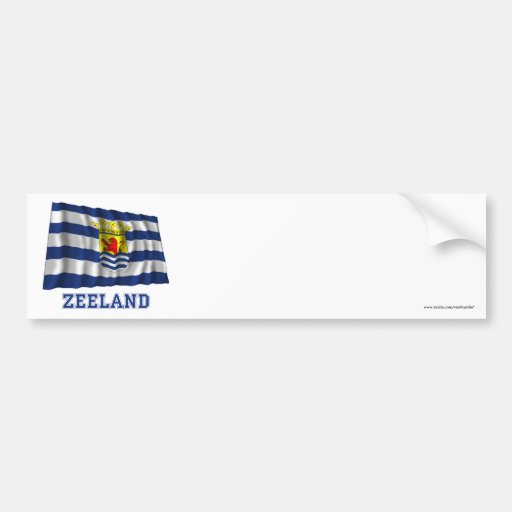 Zeeland Waving Flag with Name Bumper Sticker