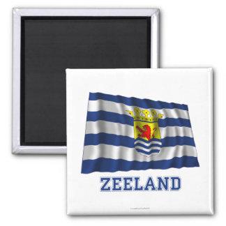 Zeeland Waving Flag with Name Magnet