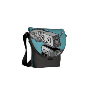 ZEEP ZOP ROBOT MESSENGER BAG