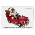 Zelda Santa Holiday Greeting Card