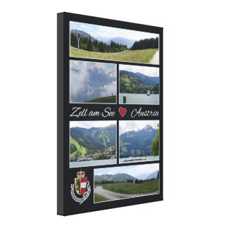 Zell am See, Austria wrapped canvas print