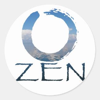 zen-2 classic round sticker