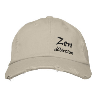 Zen addiction embroidered baseball caps