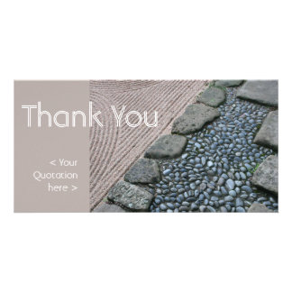 Zen and Abstract Thank You Photo Card