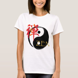 Zen and Yin Yang Symbol Women's T Shirts