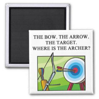zen archery koan refrigerator magnet