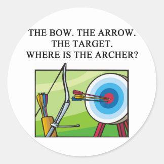 zen archery koan round sticker