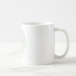 "Zen Art   ""Vibrate your Blessings"" Basic White Mug"