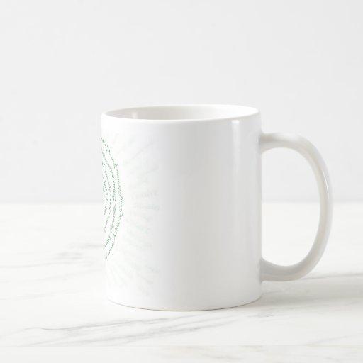 """Zen Art   """"Vibrate your Blessings"""" Mug"""
