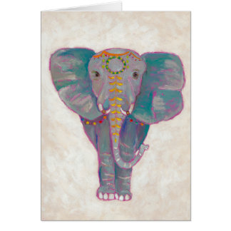 Zen Asian Elephant Card