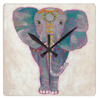Zen Asian Elephant Wall Clocks