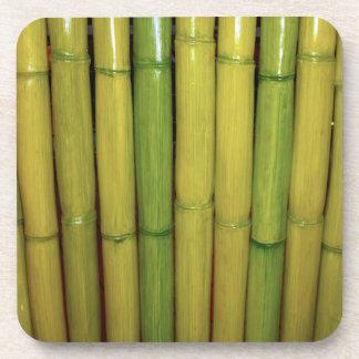 Zen Asian Green Bamboo Stalks Photo Beverage Coasters