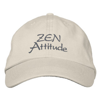 Zen attitude embroidered hats