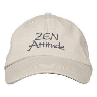 Zen attitude embroidered baseball caps