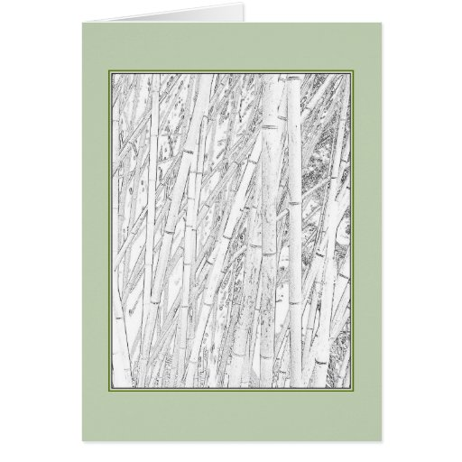 'Zen Bamboo' Blank Greeting Card