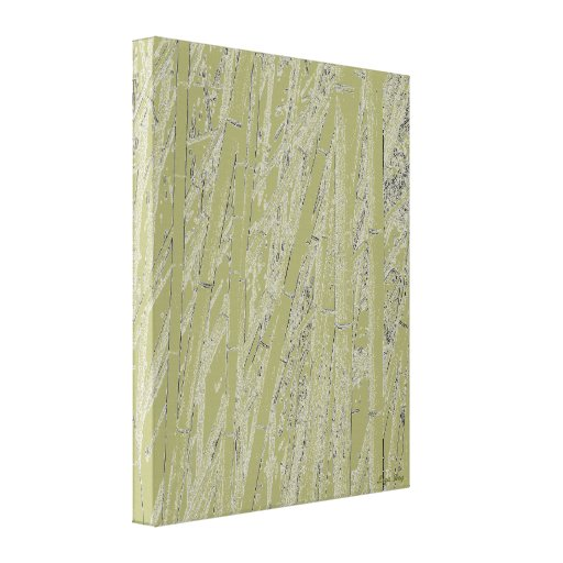 'Zen Bamboo II' Wrapped Canvas Print