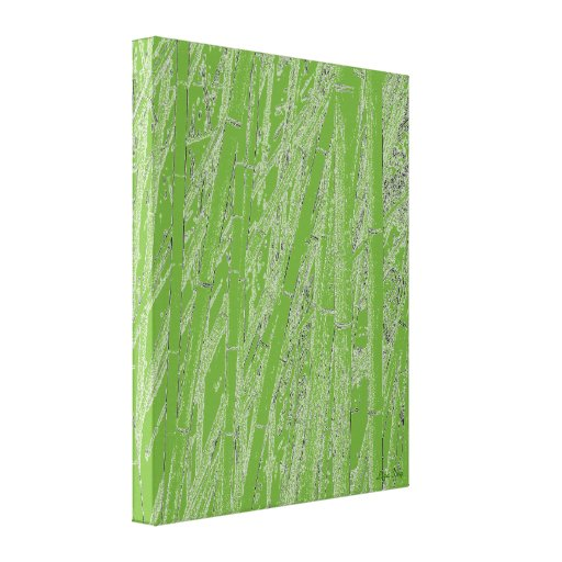 'Zen Bamboo III' Wrapped Canvas Print