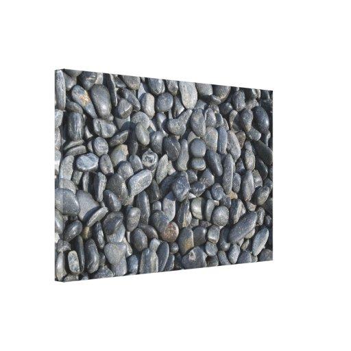 Zen Black Rocks Canvas Print