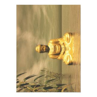 Zen buddha meditating 14 cm x 19 cm invitation card