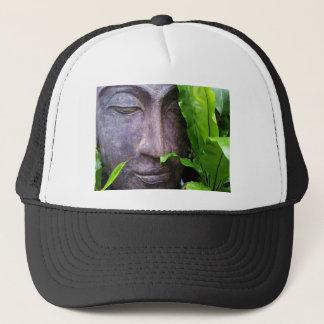 Zen Buddha Serenity Black White Hat