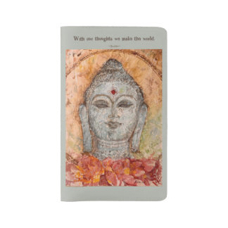 Zen Buddha Watercolor Art Notebook Cover