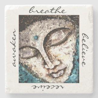 Zen Buddha Watercolor Art Stone Coaster
