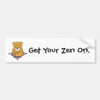 Zen Cat Bumper Stickers
