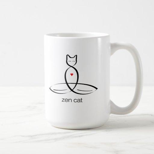 Zen Cat - Regular style text. Coffee Mug
