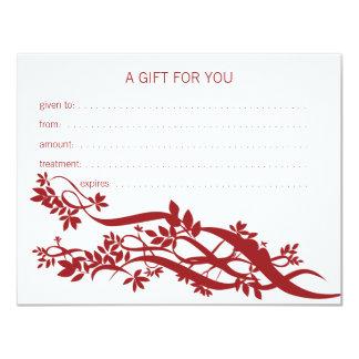 Zen Chic Massage Therapist Gift Certificate 11 Cm X 14 Cm Invitation Card