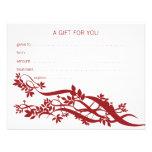Zen Chic Massage Therapist Gift Certificate Invite