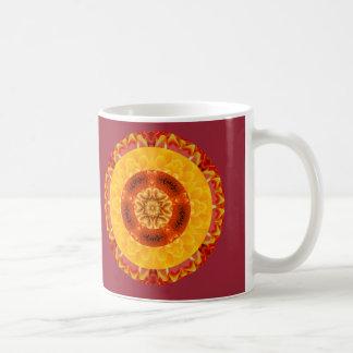 Zen Chrysanthemum Mandala Mug
