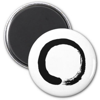 Zen Circle Design product 6 Cm Round Magnet