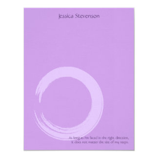 Zen Circle Flat Note Card (purplw) 11 Cm X 14 Cm Invitation Card