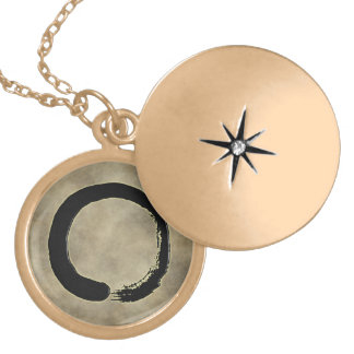 ZEN CIRCLE GOLD PLATED NECKLACE