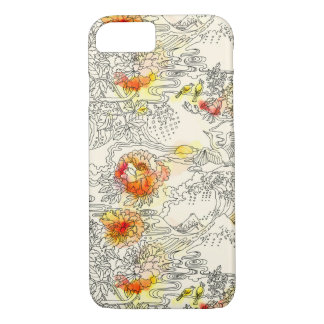 Zen Crane Japanese print iPhone 8/7 Case