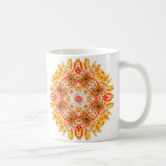 Zen Dahlia Flower Mandala Mug