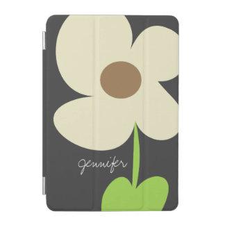 Zen Daisy Personalized iPad Mini Cover - Gray