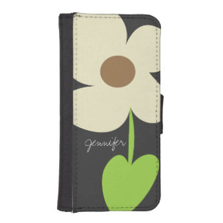 Zen Daisy Personalized iPhone 5/5S Wallet Case